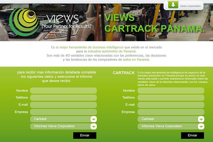 Views Landing page